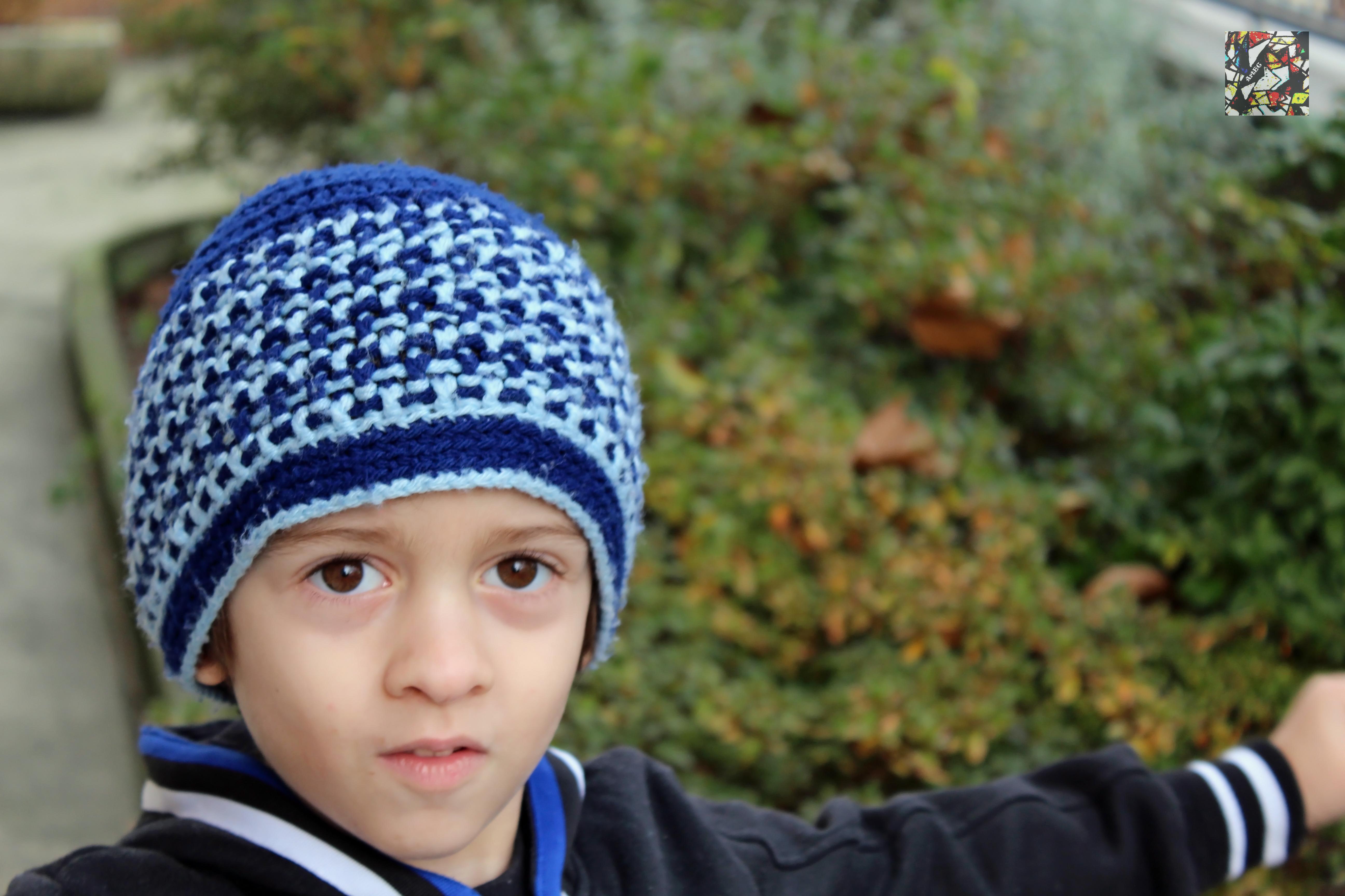 Bright Stripes Crochet Beanie Cappello Alluncinetto Per Bimbi By